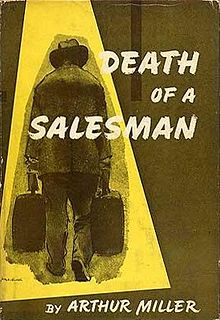 Cover of Arthur Miller's play, Death of a Salesman.