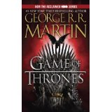 Cover of George RR Martin's novel, Game of Thrones.