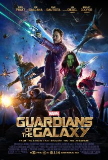 Poster for the movie Guardians of the Galaxy.