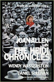 Poster for The Heidi Chronicles, a play by Wendy Wasserstein.