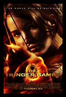 Poster for the movie The Hunger Games.