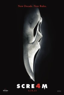 Poster for the movie Scream4.
